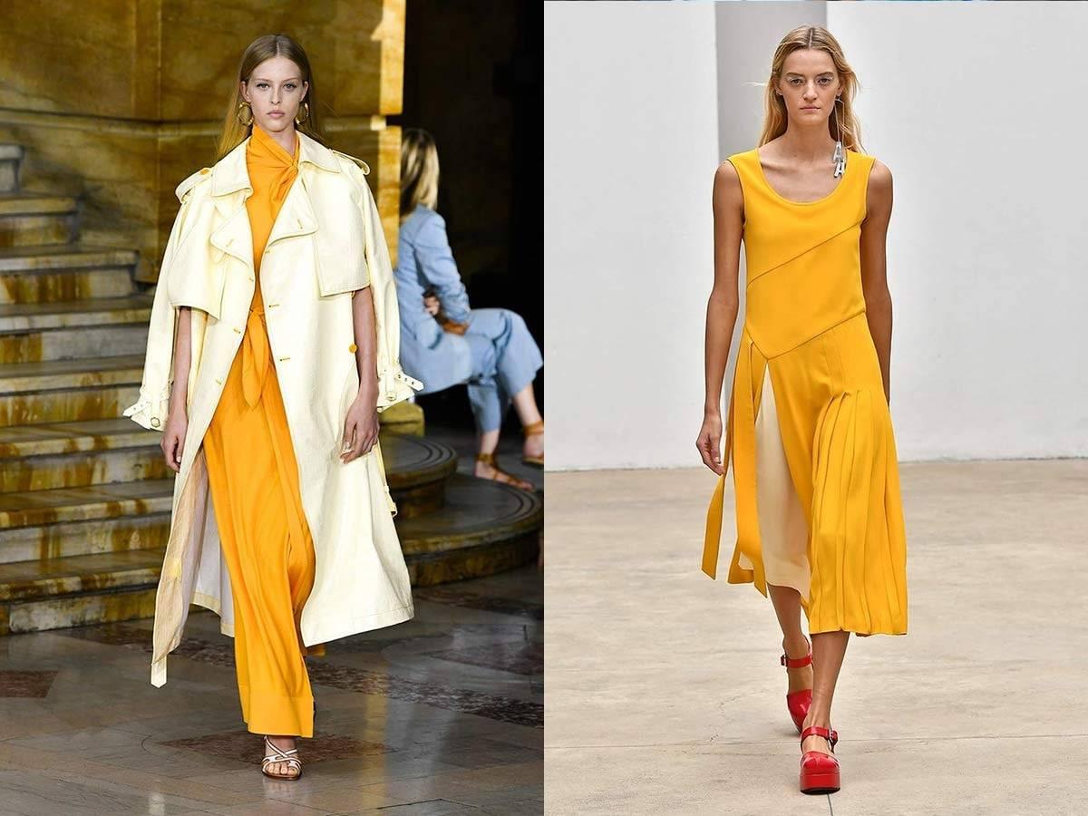 「2020春夏トレンド カラー  黄色paris collection」の画像検索結果